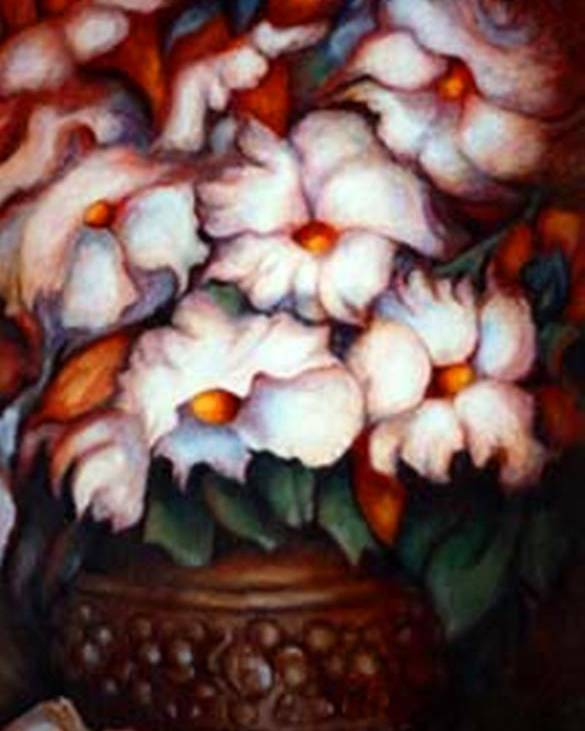 Flower Artwork Poster featuring the painting Western Flowers by Jordana Sands
