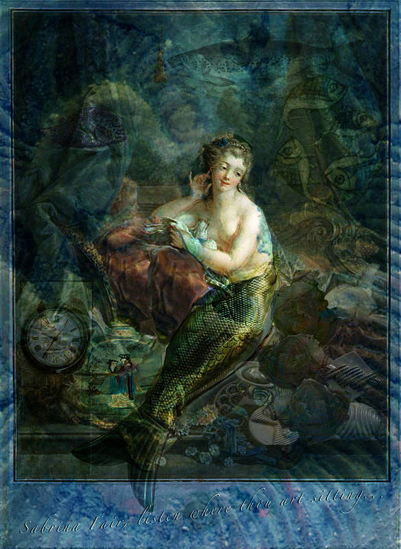 Molluscs Poster featuring the digital art Wet Magic by Sarah Vernon