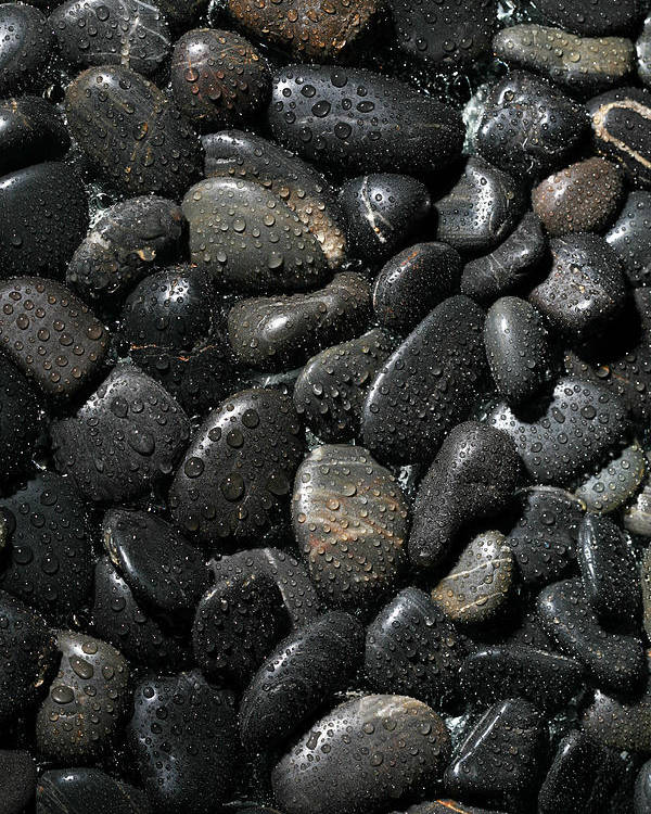 Background Poster featuring the photograph Wet River Rocks by Michael Ledray