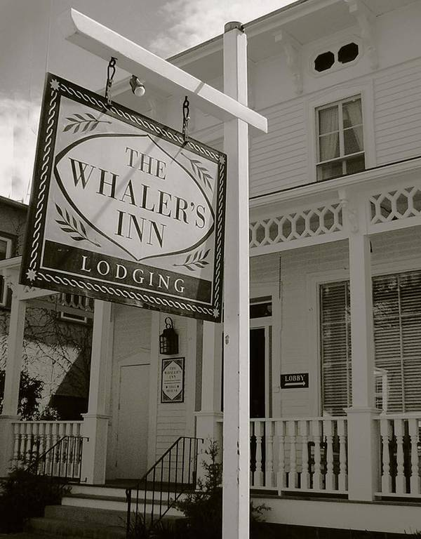 Mystic Poster featuring the photograph Whaler's Inn by Heather Weikel