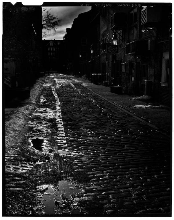 Black And White Poster featuring the photograph Wharf Street by Filipe N Marques