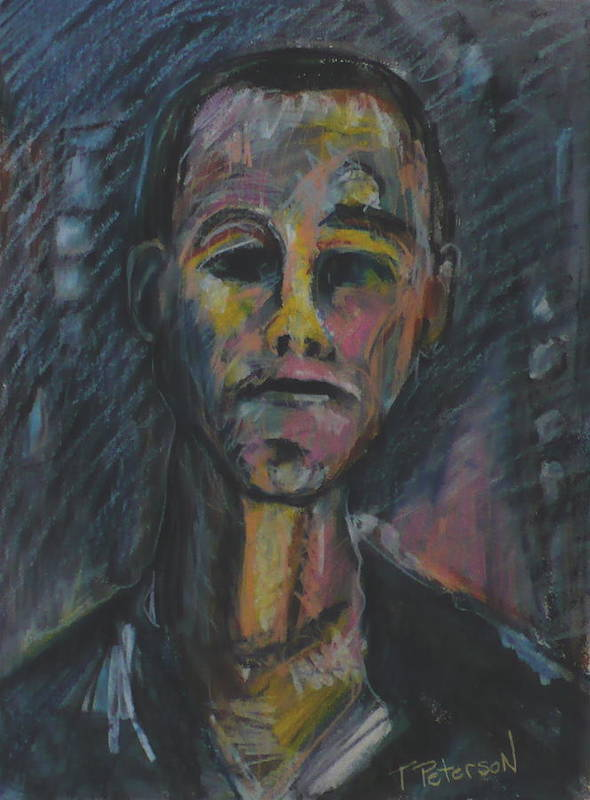 Portrait Poster featuring the painting What Now He Asks by Todd Peterson