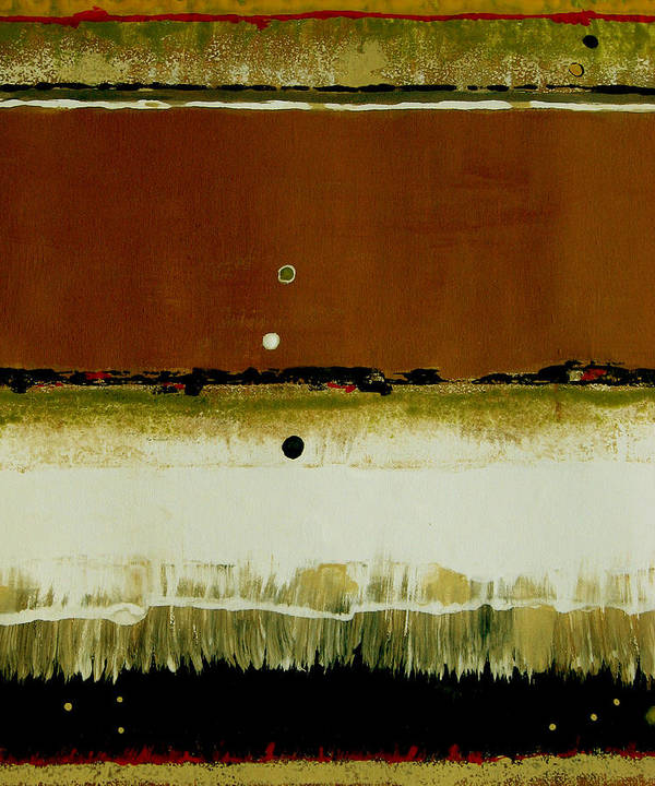 Abstract Poster featuring the painting Whats Your Line by Ruth Palmer
