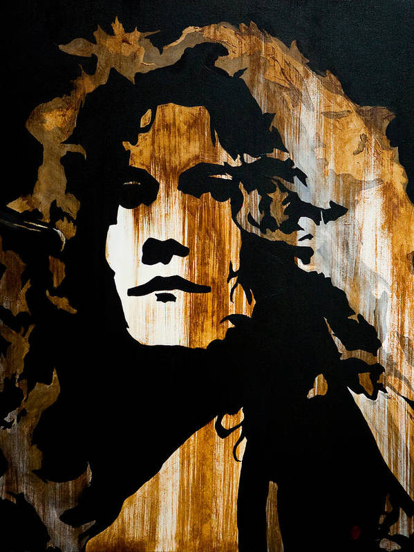 Robert Plant Poster featuring the painting When Movin Through Kashmir by Brad Jensen