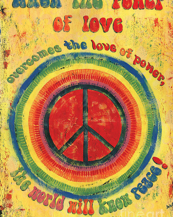 Love Poster featuring the painting When The Power Of Love by Debbie DeWitt