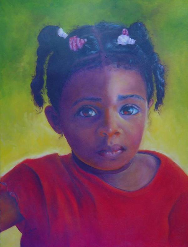 Child Poster featuring the painting Where is my Mommy by Merle Blair
