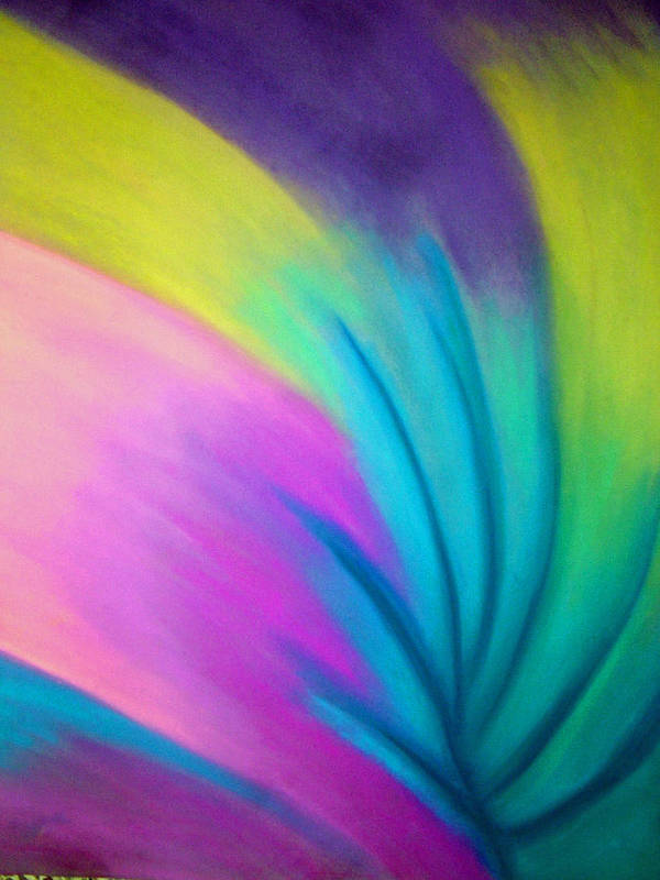 Pastel; Colors; Abstract Drawing Poster featuring the drawing Whirlwind by Jan Gilmore