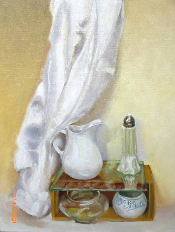 Contemporary Realism Poster featuring the painting White Kitchen       copyrighted by Kathleen Hoekstra