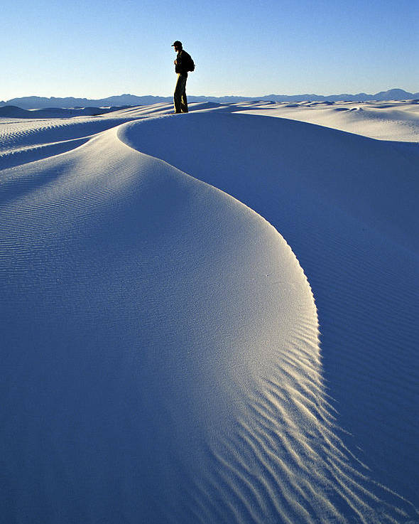 Travel Poster featuring the photograph White Sands National Monument, Nm Usa by Dawn Kish