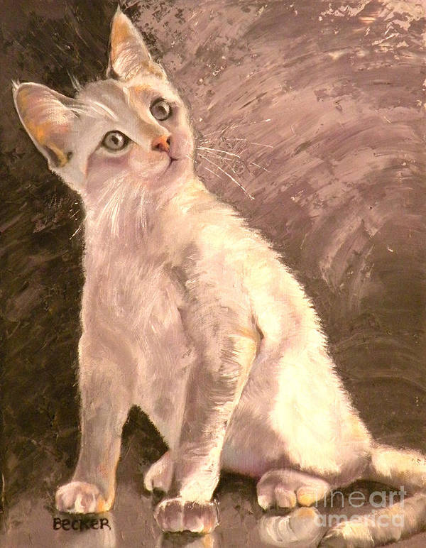 Cat Poster featuring the painting Whole Lotta Lovin by Susan A Becker