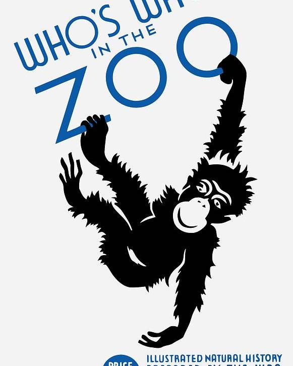 Wpa Poster featuring the painting Who's Who In The Zoo - Wpa by War Is Hell Store
