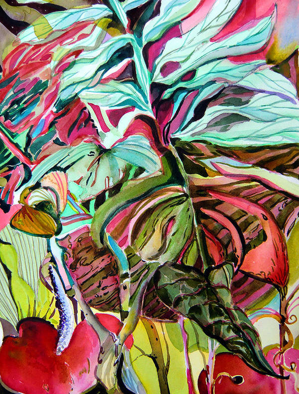 Jungle Poster featuring the painting Wild And Grace Filled by Mindy Newman