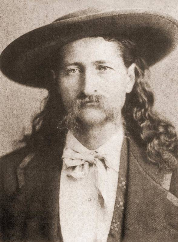 History Poster featuring the photograph Wild Bill Hickok Was A Celebrated by Everett