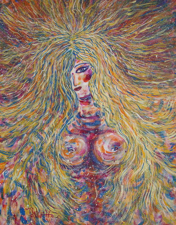 Nude Poster featuring the painting Wild Passion by Natalie Holland
