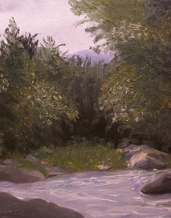 Landscape Poster featuring the painting Wilderness by Pamela Wilson