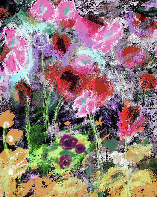 Flowers Poster featuring the mixed media Wildest Flowers 2- Art By Linda Woods by Linda Woods
