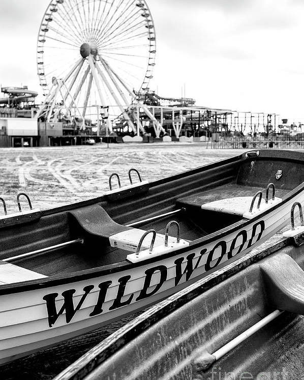 Wildwood Black Poster featuring the photograph Wildwood Black by John Rizzuto