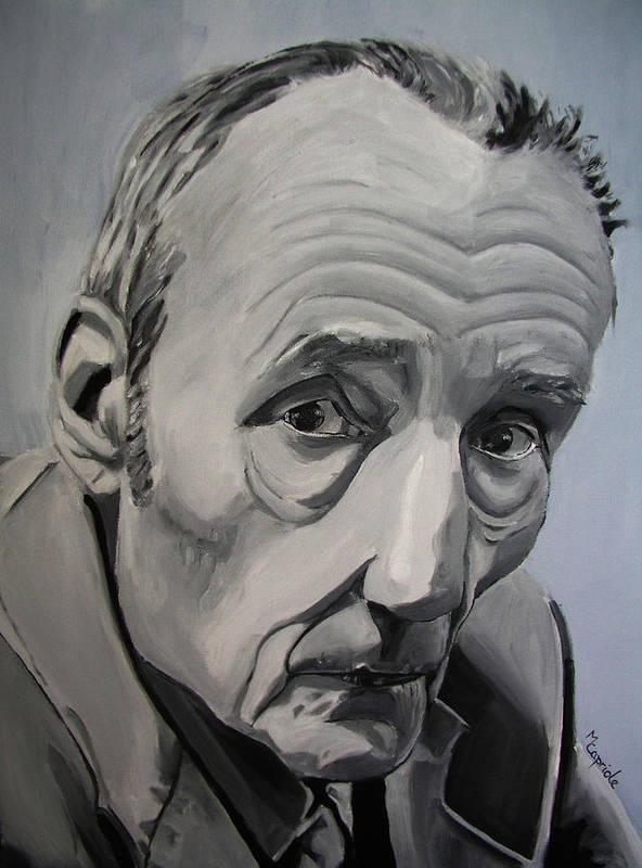 William Burroughs Poster featuring the painting William Burroughs by Mary Capriole