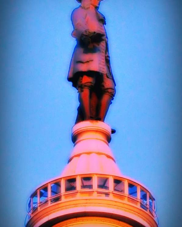 William Penn Poster featuring the photograph William Penn - City Hall In Philadelphia by Bill Cannon
