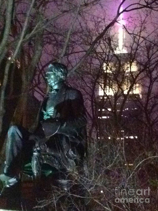 William Seward Poster featuring the photograph William Seward And Empire State Building 1 by Ken Lerner
