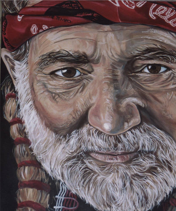Portrait Poster featuring the painting Willie by Diann Baggett