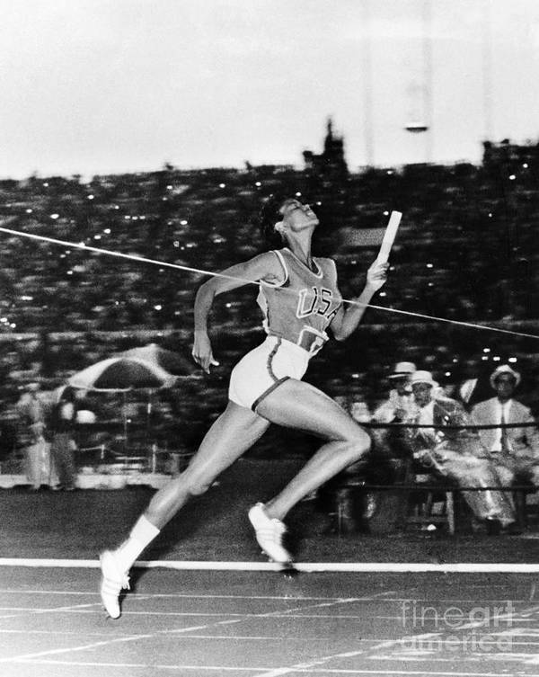 1960 Poster featuring the photograph Wilma Rudolph (1940-1994) by Granger