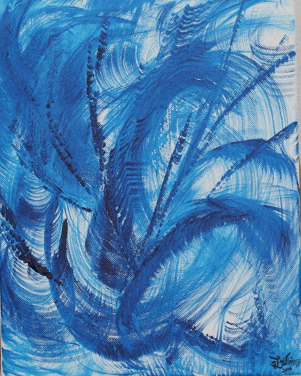 Wind Poster featuring the painting Wind by Sandra Winiasz