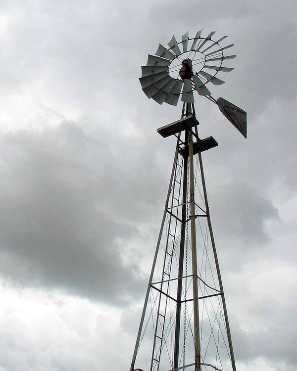 Windmill Poster featuring the photograph Windmill by Margaret Fortunato