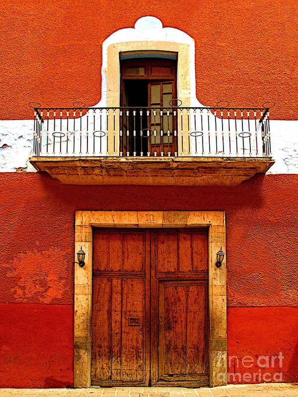 Darian Day Poster featuring the photograph Window Above The Wooden Door by Mexicolors Art Photography