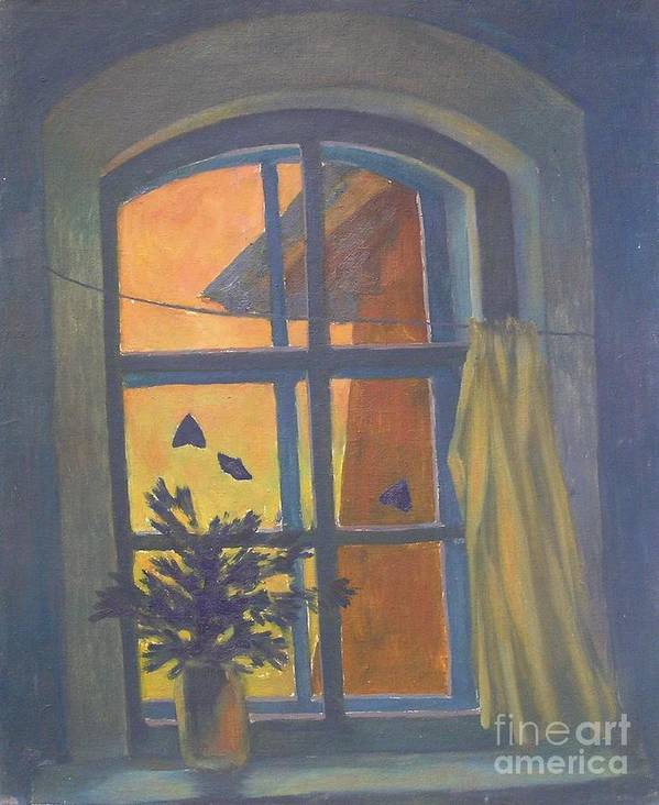 Window Poster featuring the painting Window by Andrey Soldatenko
