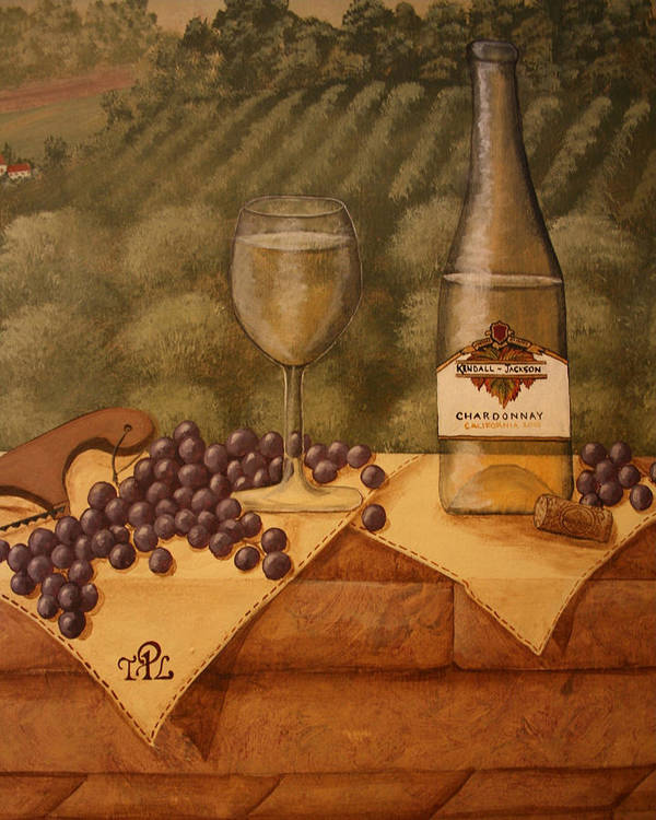 Grapes Poster featuring the painting Window Ledge by Sandra Poirier