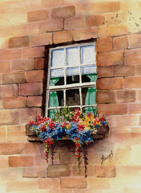 Window Poster featuring the painting Window by Sam Sidders