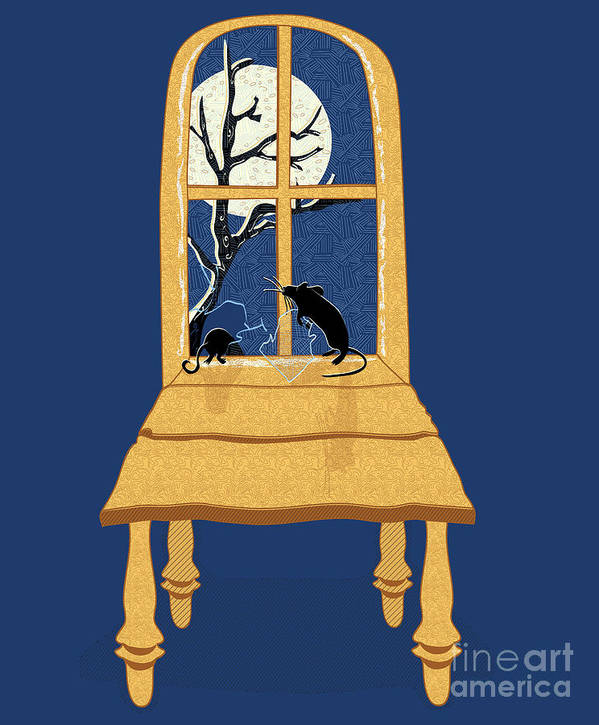Rats Poster featuring the digital art Window Seat by Laura Brightwood