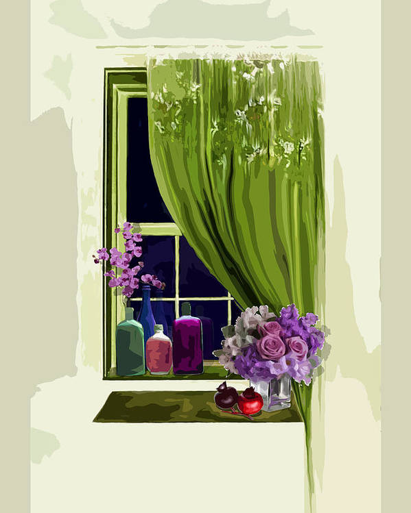 Window Poster featuring the digital art Window by Xenia Sg