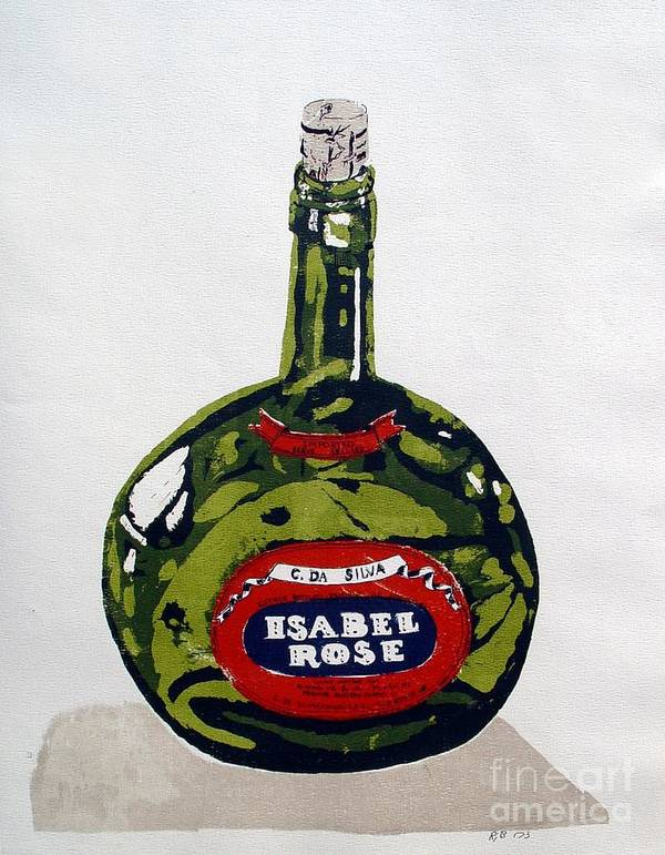 Silk Screen Poster featuring the mixed media Wine Bottle by Ron Bissett
