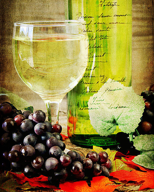 Alcohol Poster featuring the photograph Wine by Darren Fisher