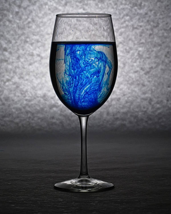 Wine Poster featuring the photograph Wine Glass by Gary Prill