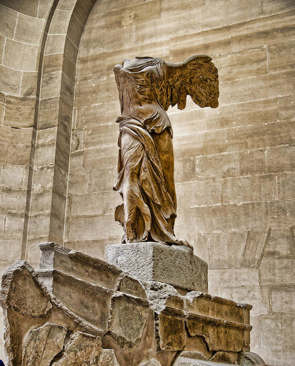 France Poster featuring the photograph Winged Victory by Jon Berghoff