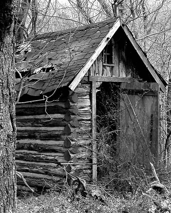 Ansel Adams Poster featuring the photograph WinslowLogOuthouse-11x17 by Curtis J Neeley Jr