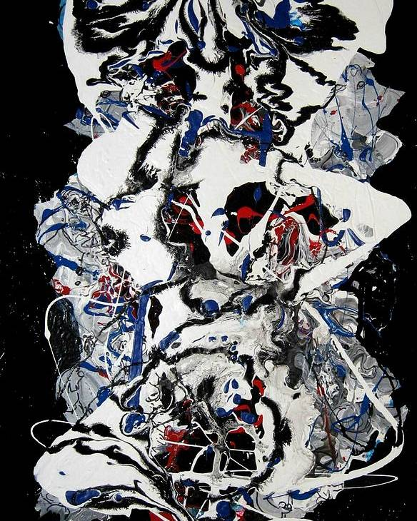 Abstract Poster featuring the painting Winter Meltdown by Paul Freidin