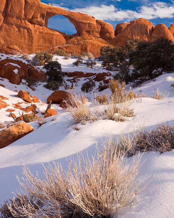 Skyline Arch Poster featuring the photograph Winter Morning At Arches National Park by Utah Images