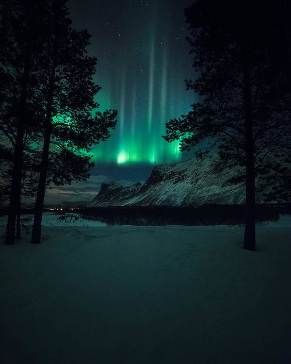 Northern Lights Poster featuring the photograph Winterspell by Tor-Ivar Naess