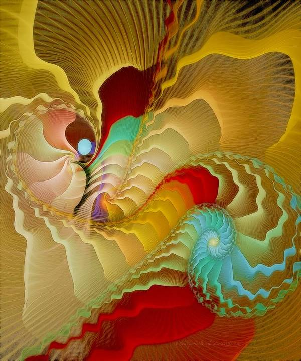 Fractal Poster featuring the digital art With A Gentle Breath by Gayle Odsather