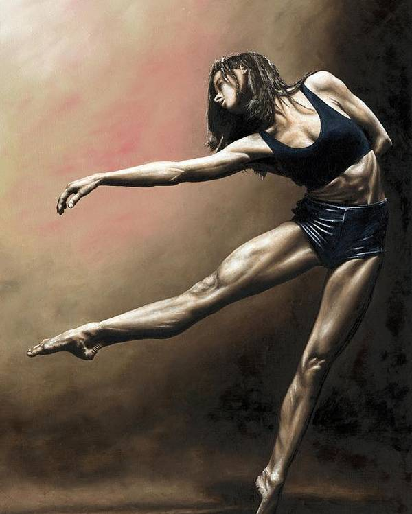 Dancer Poster featuring the painting With Strength And Grace by Richard Young