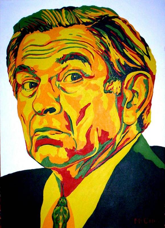 Politics Poster featuring the painting Wolfowitz by Dennis McCann