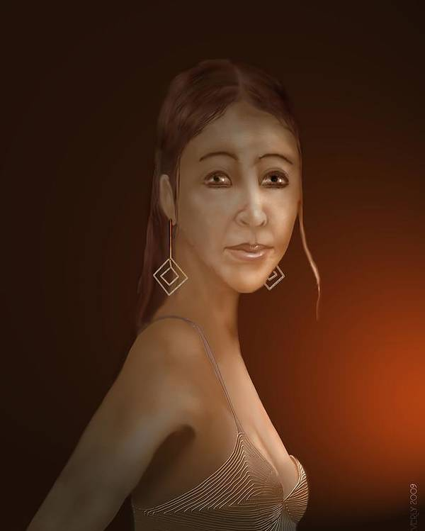 Woman Poster featuring the digital art Woman 10 by Kerry Beverly