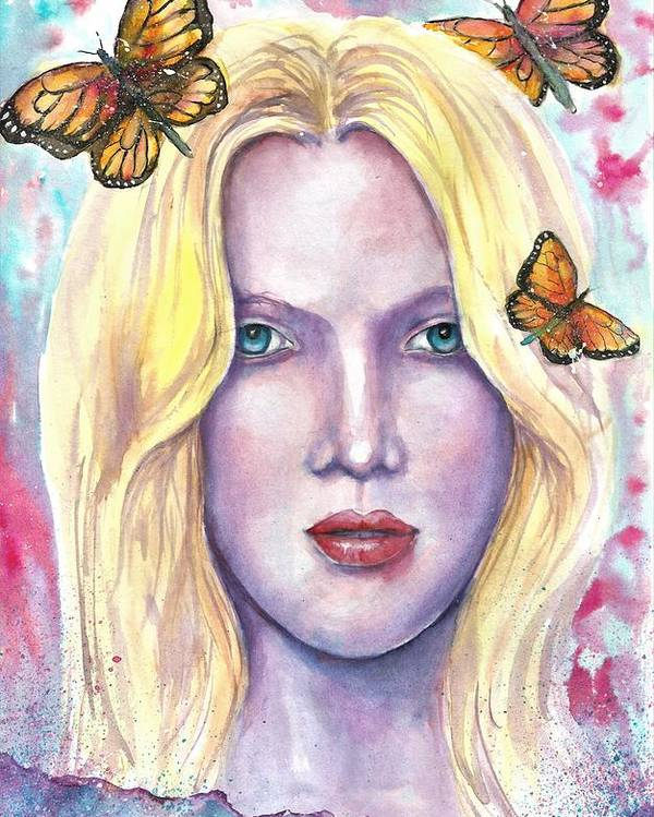 Original Painting Poster featuring the painting Women Face beauty by Natalja Picugina