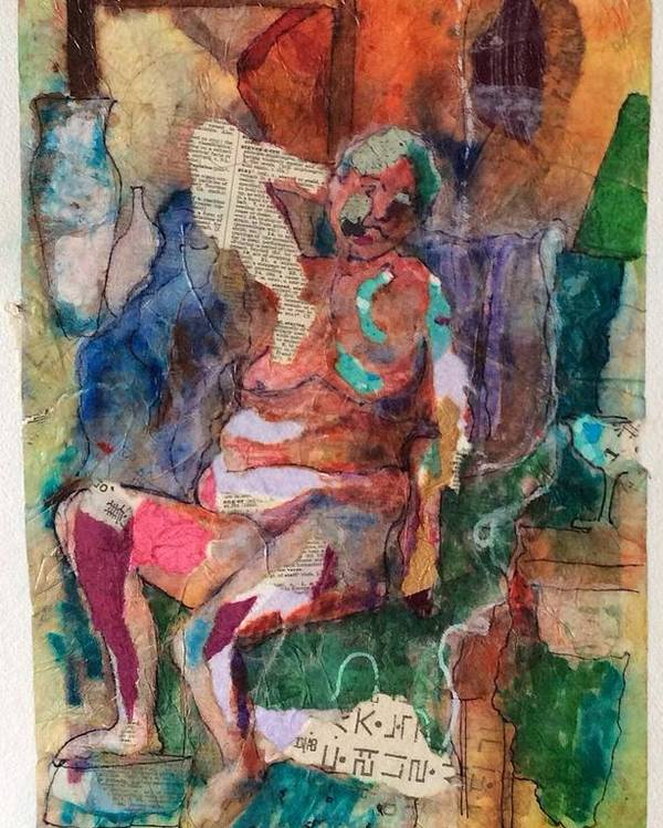 Figurative Poster featuring the painting Women In Thought by Marcia Lara