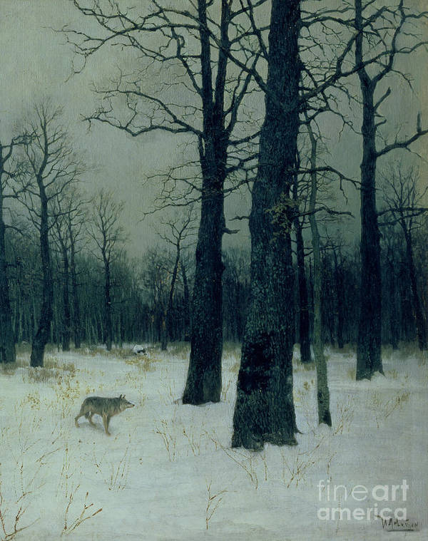 Wood Poster featuring the painting Wood In Winter by Isaak Ilyic Levitan