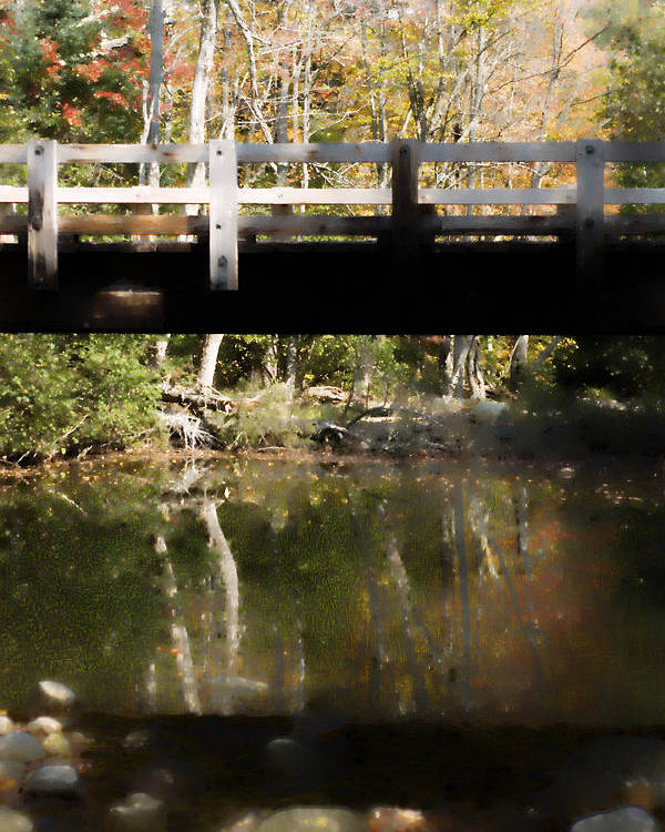 Stream Poster featuring the photograph Wooden Bridge by Rockstar Artworks